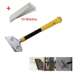 Details About 12 Razor Blade Scraper W 10 Blades Paint Wallpaper Removal Tool Paper Remover