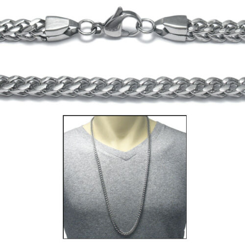 """316L Stainless Steel Men/'s 30/"""" 5mm Square Curb Cuban Chain Necklace"""