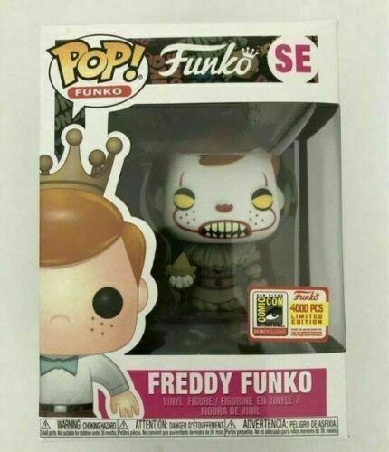 Funko Pop Vinyl Figure Freddy Funko Pennywise SDCC LE4000 Brand New Box SE Hot