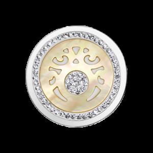Coin-CS226-von-CEM-fuer-33-mm-Anhaengerrahmen-Edelstahl-Kristall-Perlmutt