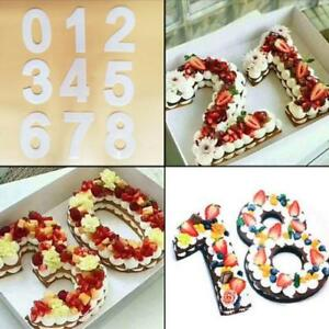 Image Is Loading Large Silicone Number Cake Template Birthday Anniversary 0