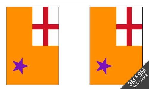 10 flag bunting Orange Order  3 metre long