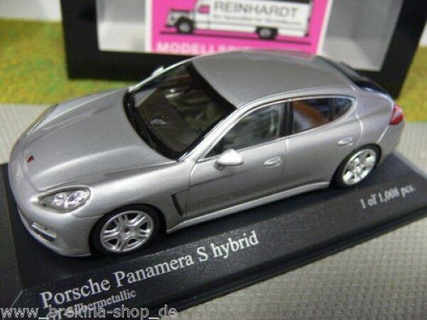 1 43 Minichamps Porsche Panamera S hybrid silver 400 068250