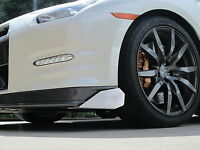 Pair Silver Aluminum Front Lower Bumper Lip Splitter Diffuser Spoiler