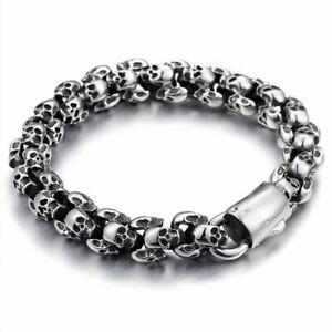 Gothic Silver Skull Chain Mens Designer