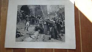 Rare-gravure-ancienne-XIXe-Bonaparte-siege-Pavie-Italie-Napoleon-1er-militaria