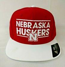 09667d8c8913f Nebraska Cornhuskers NCAA Adult Mens adidas Dassler Hat Cap Flat Brim  Snapback