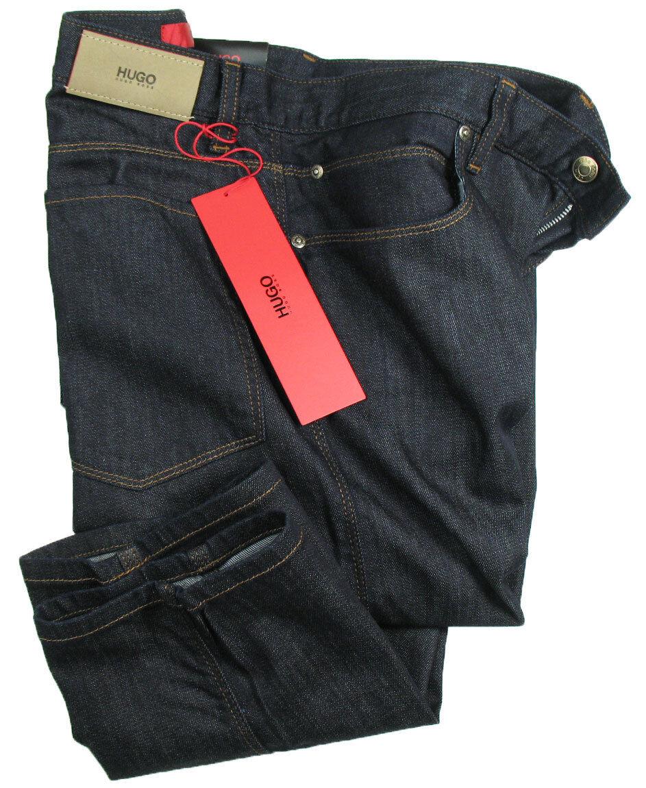 Boss Hugo Jeans 708 in W36 W36 W36 L34 (Slim Fit) Blu Scuro Slavati Elasticizzato 82eb62