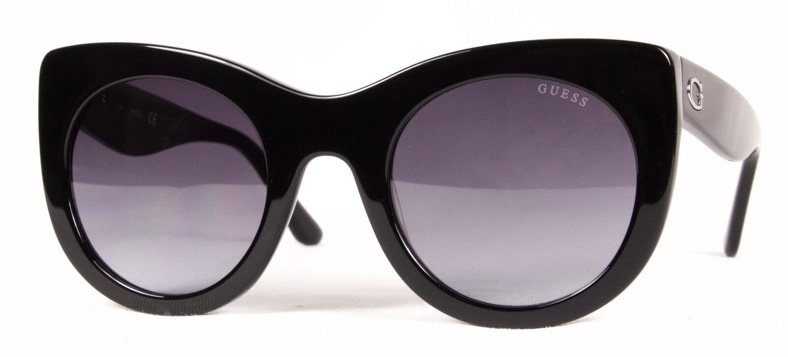 08fcaff2477 GUESS GU 7485 Sunglasses 01b Shiny Black 100 Authentic for sale ...