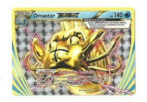 Omastar BREAK 19//124 Fates Collide Rare BREAK Mint Pokemon Card