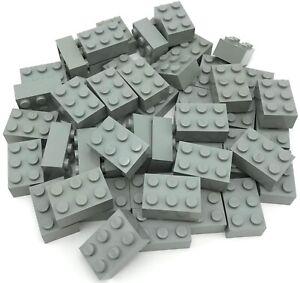 Lego Lot of 100 New Black Plates 2 x 2 Dot Building Blocks Parts