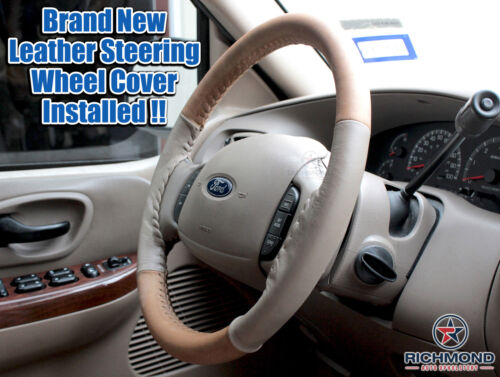 4-Seam Style 2003-2007 Ford F250 F350 King Ranch Leather Steering Wheel Cover
