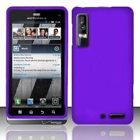 Hard Rubberized Case for Motorola Droid 3 XT862 - Purple