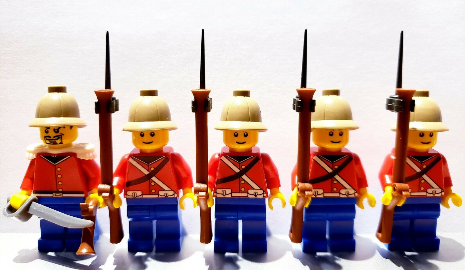 Lego PIRATES BRITISH ANGLO-ZULU WAR Line Infantry Soldiers MINIFIGS