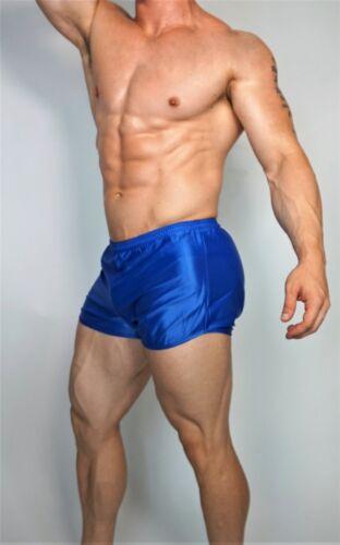 MEN/'S BLUE RUNNING NYLON SHORTS