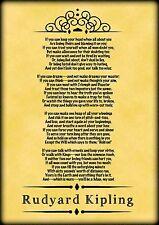 If Poem, (vintage style) Rudyard Kipling Art A4 print
