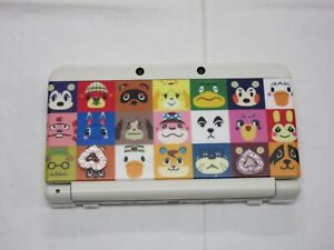E318 Nintendo new 3DS LL XL console White Animal Crossing Cover Plate Japan fx