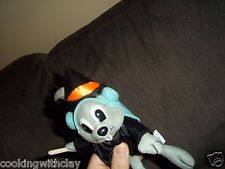 2001 ROCKY & BULLWINKLE PLUSH DOLL HALLOWEEN WARLOCK WITCH SQUIRREL BROOMSTICK