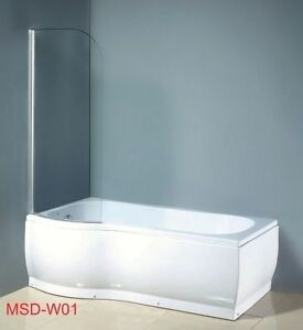 Badewanne Mit Duschwand.Badewanne Duschwand Duschwanne Wanne Kombimodell Ebay