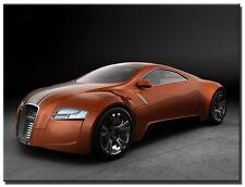 Single Total 65 x45cm CANVAS ABSTRACT  LARGE ART PRINT  ART AUDI Orange/Black