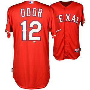 wholesale dealer 0b7c5 c89bb Details about Texas Rangers star Rougned Odor game used red jersey and  signed 8x10
