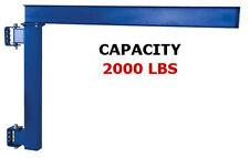 Vestil Wall Jib Crane For Low Ceilings 2000 Lb Capacity