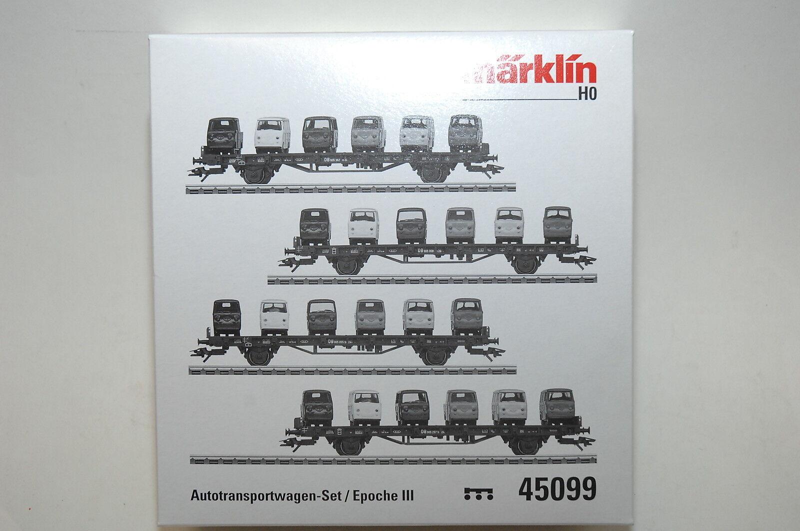 Märklin 45099 Set de transporte vehículos 4 piezas carga MIT 24 Vidrio Kara