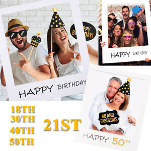 21st-18-30-40-50th-Happy-Birthday-Paper-Photo-Booth-Props-Frame-Party-Decoration