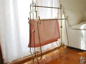 Iron-French-Style-Quilt-Blanket-Stand-Towel-Rack-B