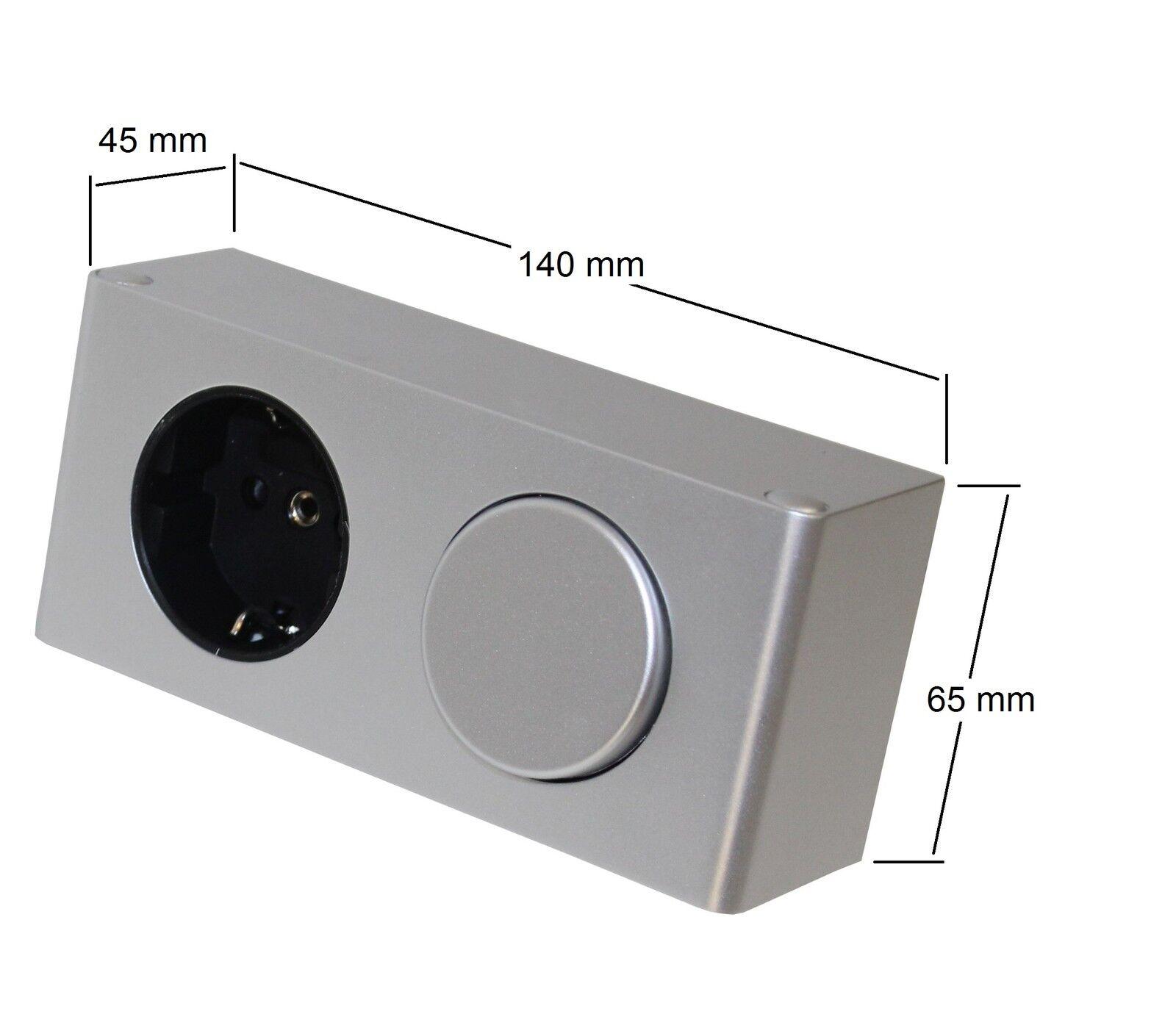 Kombi-Box 230V mit Schalter Steckdose Spiegelschrank ...