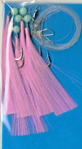 Maquereau /& Pollack Feather Rigs 3 /& 5 crochet diverses couleurs multi annonce