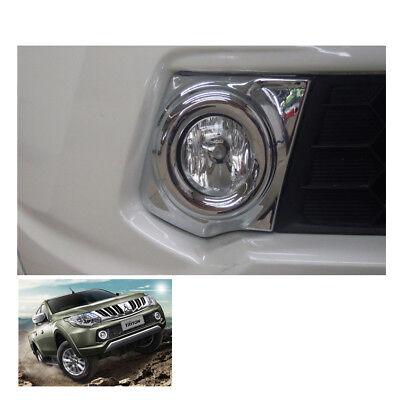 Fog Lamp Light Cover Chrome Trim For Mitsubishi Pickup L200 Triton at 15 16 2017