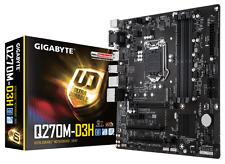 Gigabyte GA-Q270M-D3H Motherboard CPU i3 i5 i7 LGA1151 Intel DDR4 HDMI VGA DVI