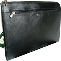 Visconti Bond - Black Leather Under Arm Folio, Portfolio File Case / Business Pa