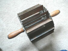 MILLER BUN DIVIDER ROLLING PASTRY CUTTER - 1907 ANTIQUE COMMERCIAL BAKERY TOOL