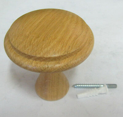 Pomello pomolo appendino in legno rovere finitura laccato naturale misura ø 64mm