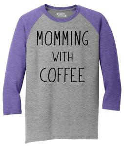 Mens-Momming-With-Coffee-3-4-Triblend-Mother-Gift-Shirt