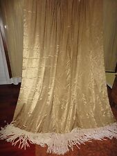 JC PENNEY ESTATE GOLD ROPE FRINGED (PAIR) CURTAIN PANELS CURTAIN 50 X 90