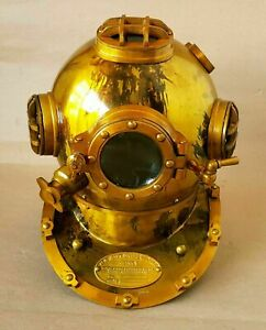 "US NAVY MARK IV SCUBA DEEP SEA SCA DIVERS 6/"" DIVING HELMET DECOR Best Gift"