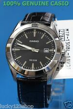 For 2b Casio Men's Band Vs01l Leather Watches Analog Mtp Genuine SqUpzMVG