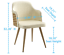 thumbnail 10 - 1 PC Mid Century Modern Leather Upholstered Accent Chair Home Office LivingRoom