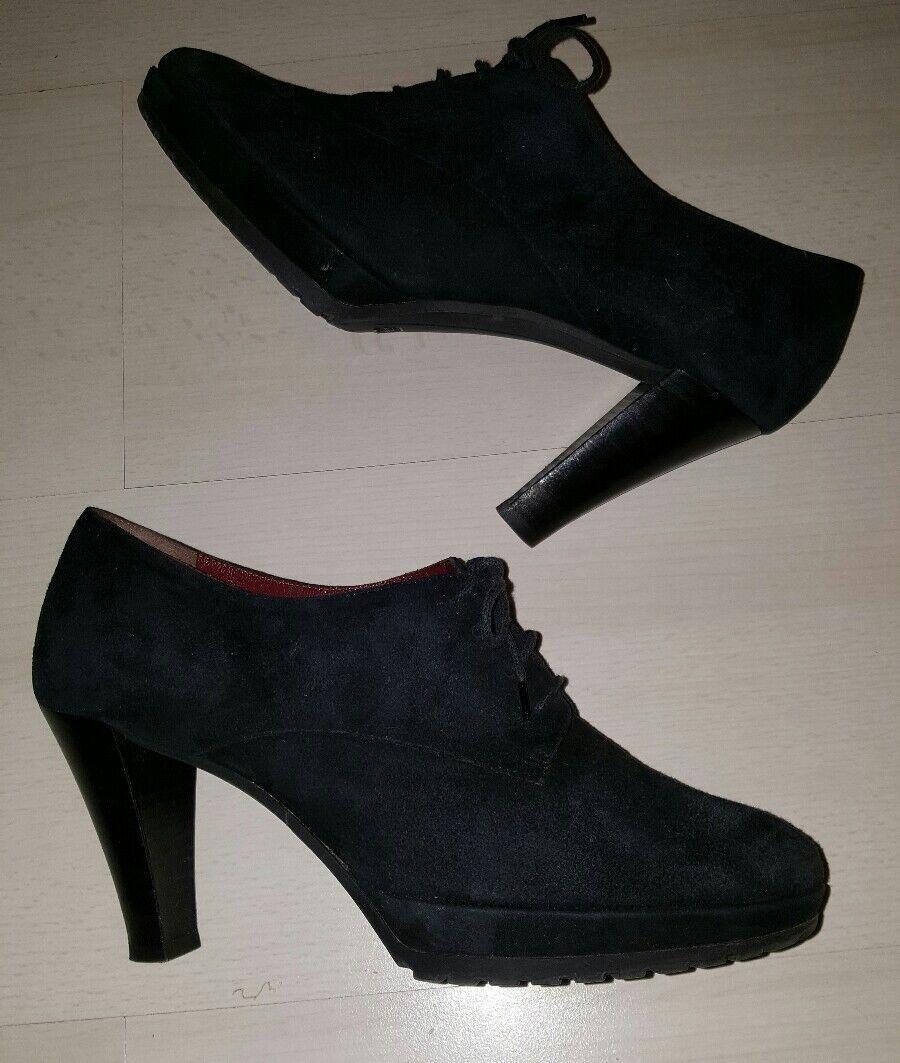 Kämpgen Handmade Ankle Stiefel gr. 41 Leder marineblau tadellos