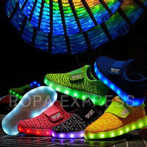 cd96ff5e3b Tenis de Luces para Niños y Niñas, Zapatillas para Jovenes, Zapatos ...