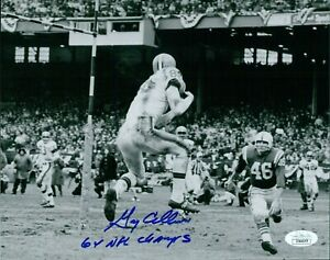 Gary Collins Cleveland Browns Signed 8x10 Matte Photo JSA Authenticated