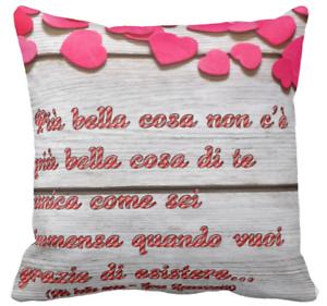 Cuscino Personalizzato Eros Ramazzotti Frase Piu Bella Cosa Cuore