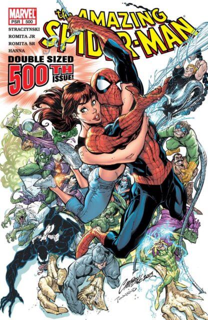 (2003) Amazing Spider-man #500! J Scott Campbell Cover!