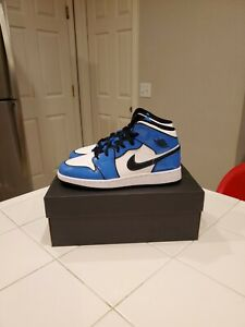 Details about New Air Jordan 1 Mid SE Signal Blue 4.5Y [ BQ6931-402 ] Brand New In Box
