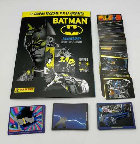 Batman 2019 80 anniversario Panini Album Set completo 192 figurine e 36 Cards