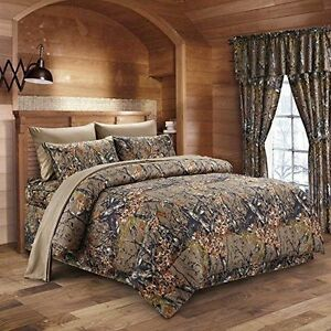 Buy Brown Camo Comforter 7 Pc White Sheet Set Cal King Size