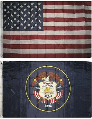 150 Denier State of Utah Flag 4x6 Foot Flag Banner